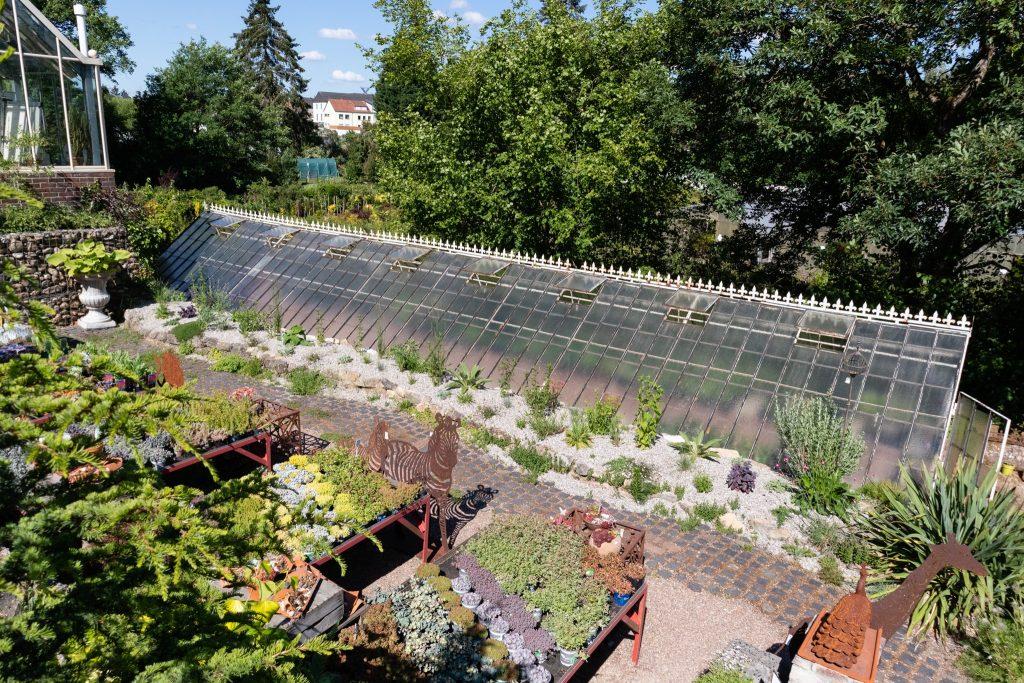 Der kleine Garten befindet sich im Verkaufsgelände unserer Baumschule.